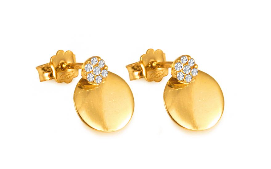 Zlaté dámské náušnice Violette IZ6577