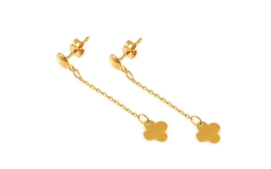 Zlaté dámské řetízkové náušnice IZ9511N