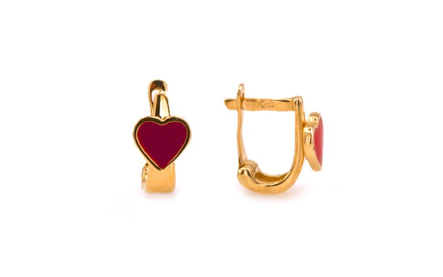 Zlaté dívčí náušnice Red Heart IZ6901