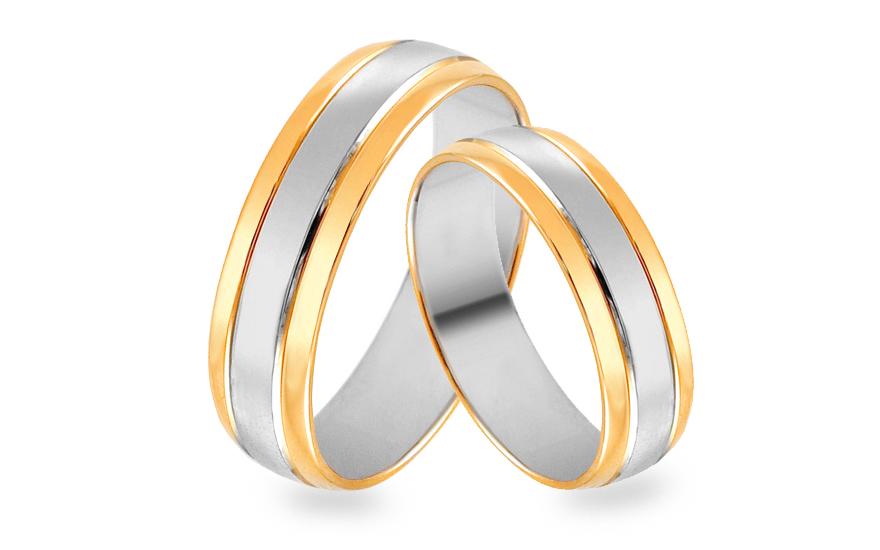 Zlate Kombinovane Snubni Prsteny Sirka 5 Mm Skob015 5 Izlato24 Cz