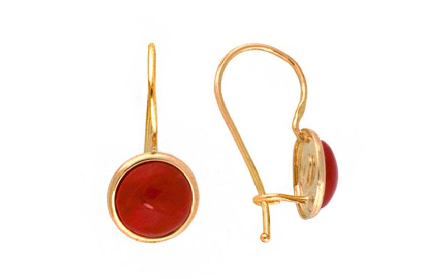 Zlaté korálové kulaté náušnice IZ7595