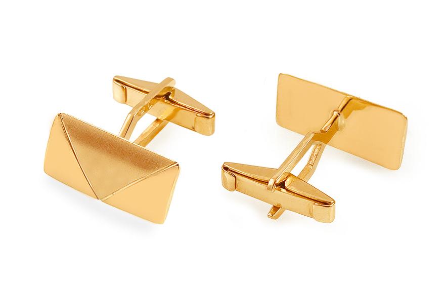 Zlaté manžetové knoflíky s matováním IZ13633