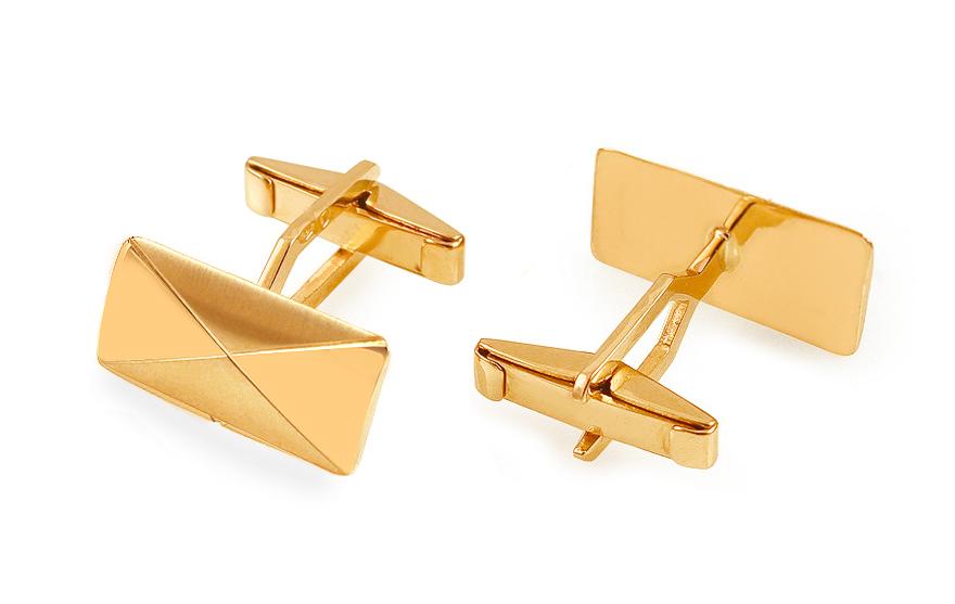 Zlaté manžetové knoflíky s matováním IZ13634