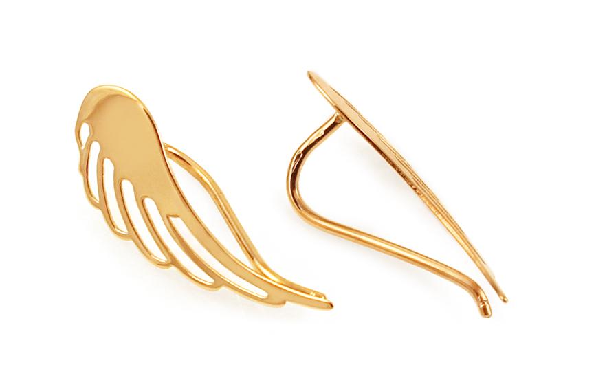 Zlaté náušnice Andělská křídla IZ11538N