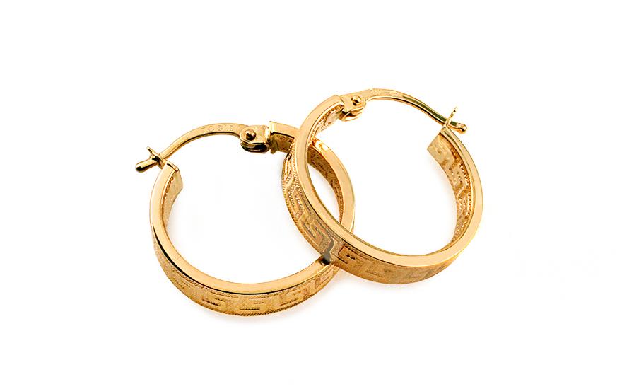 Zlaté náušnice antické kruhy 1,8 cm IZ5114
