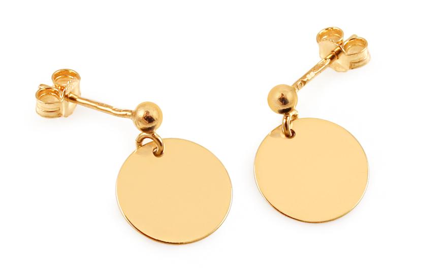 4fe0cb01a Zlaté náušnice Celebrity Circle, pro ženy (IZ8063)   iZlato24.cz