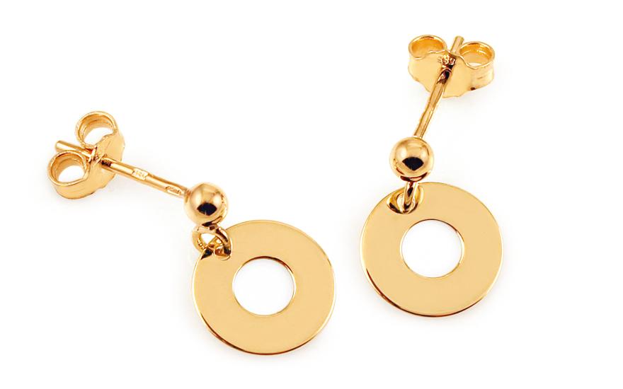 d361919e6 Zlaté náušnice Celebrity Circle 2, pro ženy (IZ8064)   iZlato24.cz