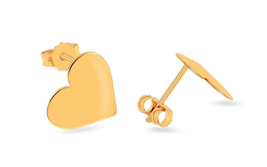83dccec0e Zlaté náušnice Celebrity Hearts 3, pro ženy (IZ8154)   iZlato24.cz