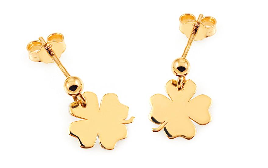 fd2379021 Zlaté náušnice Celebrity Luck, pro ženy (IZ8069)   iZlato24.cz