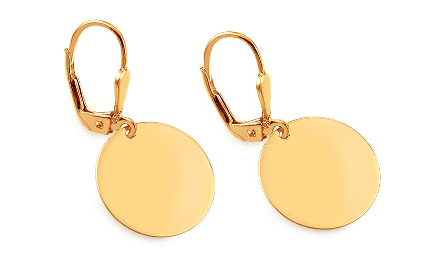 7a1a873fe Zlaté náušnice Celebrity s kulatými plotýnkami, pro ženy (IZ8065NL ...