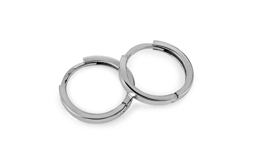 Zlaté náušnice kroužky hladké 1,4 cm IZ10822A
