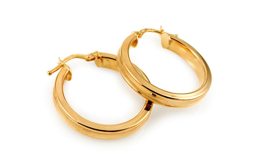 Zlaté náušnice kruhy 2,4 cm IZ10932M