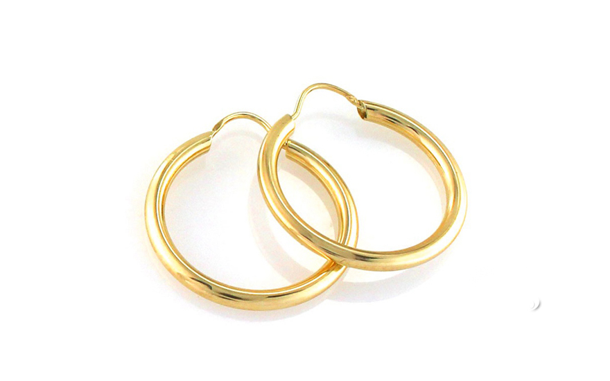 Zlaté náušnice kruhy 2 cm IZ8295