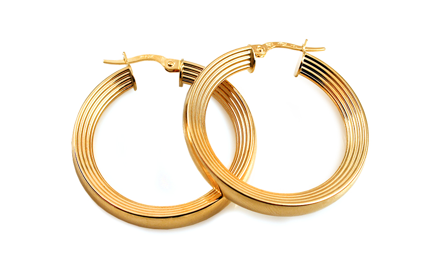 Zlaté náušnice kruhy 3,1 cm IZ10310