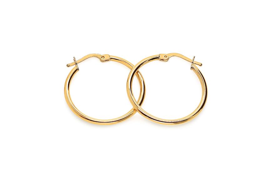 5b4605e8d Zlaté náušnice kruhy 3,3 cm, pro ženy (IZ18285) | iZlato24.cz