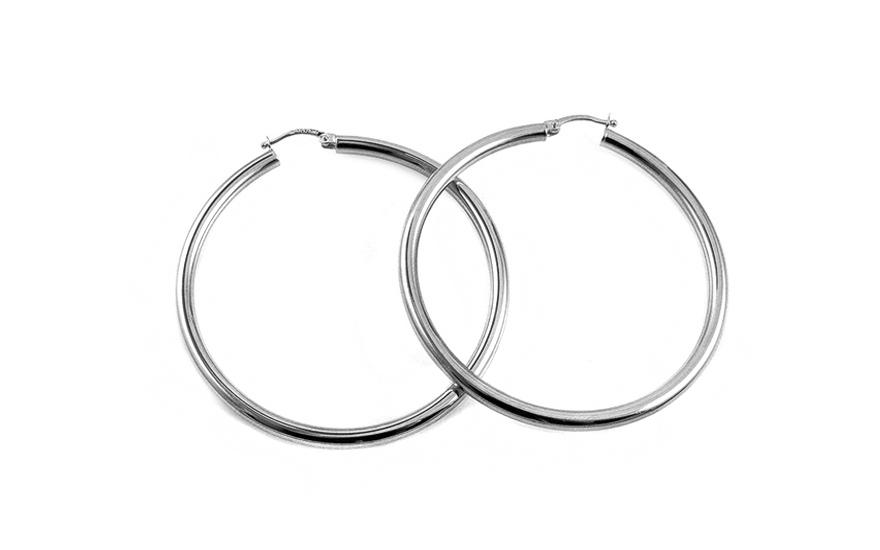 Zlaté náušnice kruhy 3,5 cm IZ4571