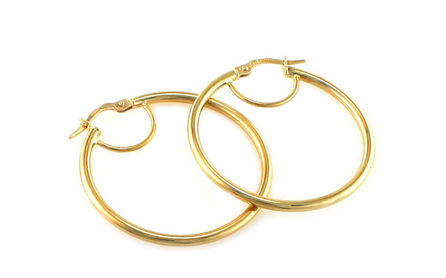 Zlaté náušnice kruhy 3,5 cm IZ8532