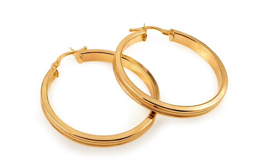 Zlaté náušnice kruhy 3,5 cm IZ10932