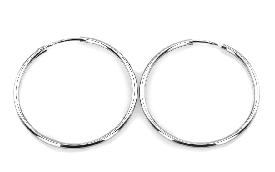 Zlaté náušnice kruhy 3 cm hladké IZ5122