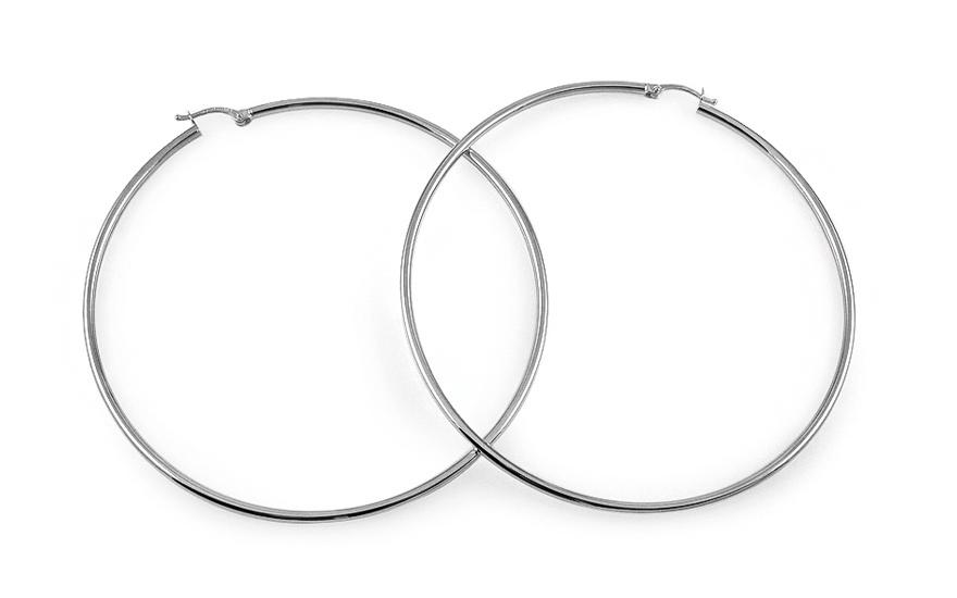 Zlaté náušnice kruhy 6,5 cm IZ4581