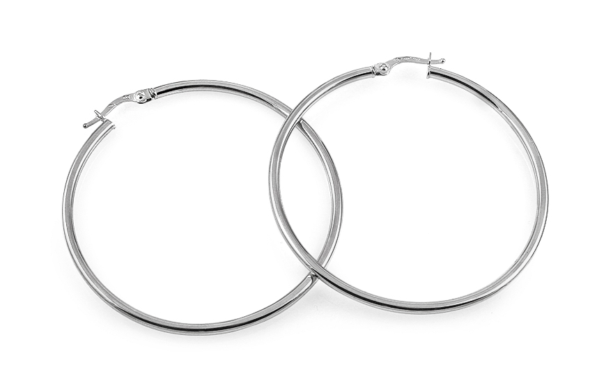 Zlaté náušnice kruhy hladké 4,7 cm IZ12029A