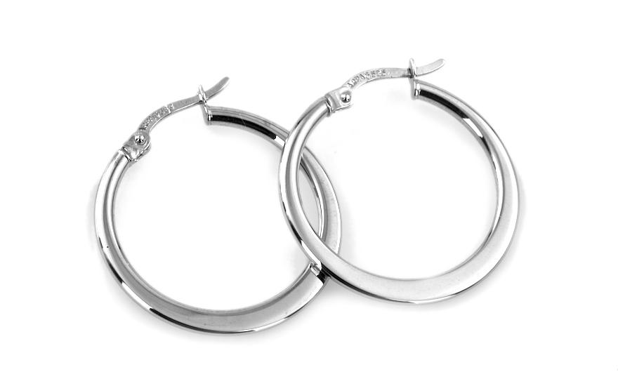 Zlaté náušnice kruhy průměr 2,4 cm IZ6940