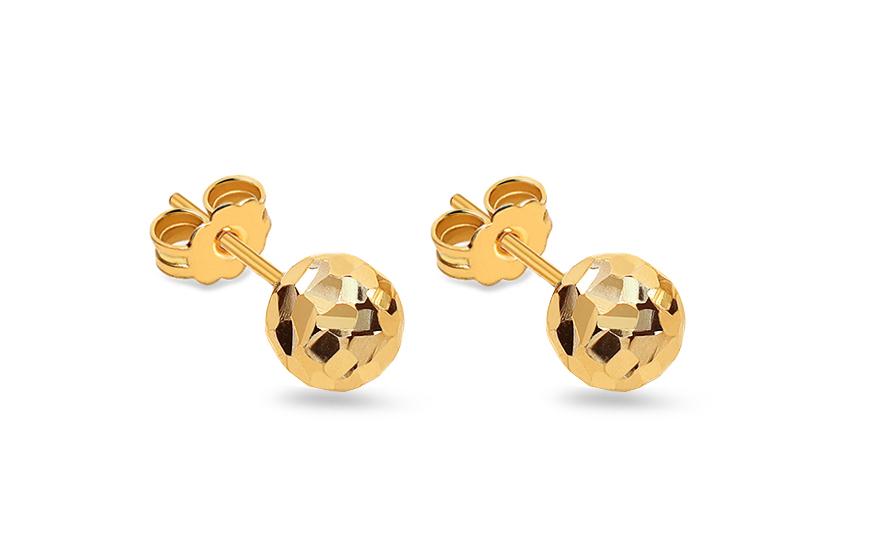 Zlaté náušnice kuličky 6 mm IZ9271
