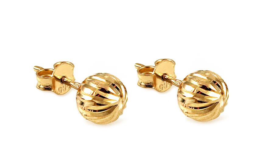 Zlaté náušnice pecky Balls 7 mm IZ11963