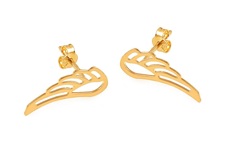 Zlaté náušnice pecky Celebrity Andělská křídla IZ12099N