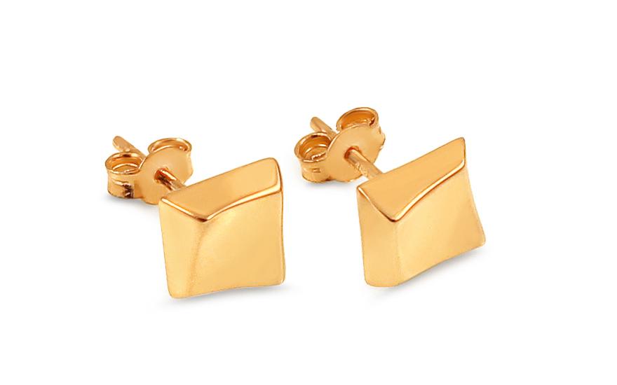Zlaté náušnice pecky kostky IZ13194N