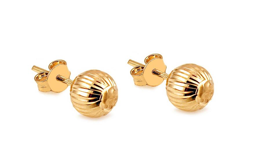 Zlaté náušnice pecky kuličky IZ10405M