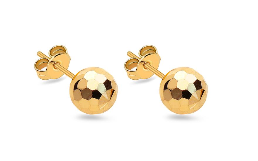 Zlaté náušnice pecky kuličky 7 mm IZ10402