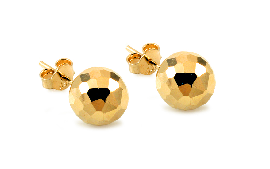 Zlaté náušnice pecky kuličky 9 mm IZ10403
