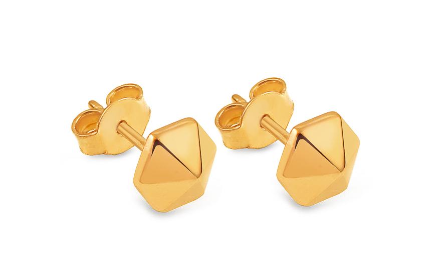 Zlaté náušnice pecky osmiúhelníky IZ13471