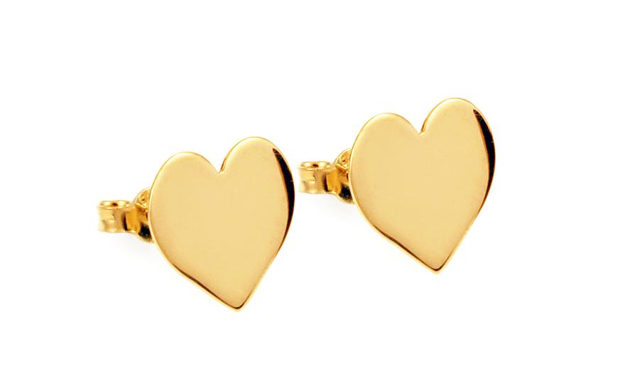 Zlaté náušnice pecky srdíčka Celebrity IZ10814