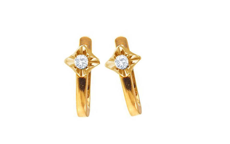 Zlaté náušnice s diamanty 0,180 ct Always yellow BSBR023YN