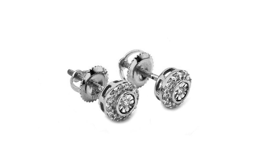 Zlaté náušnice s diamanty 0,180 ct Ardiente 8 KU0079NA