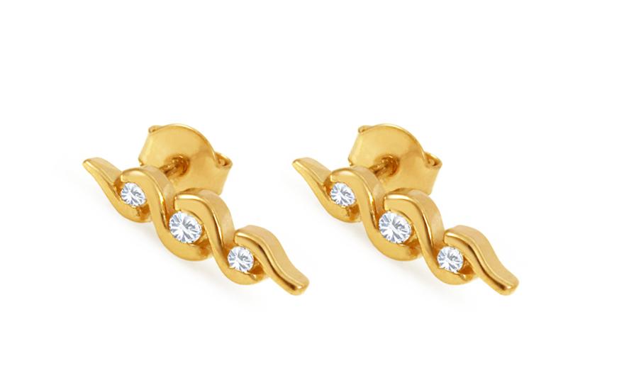Zlaté náušnice s diamanty BSBR043