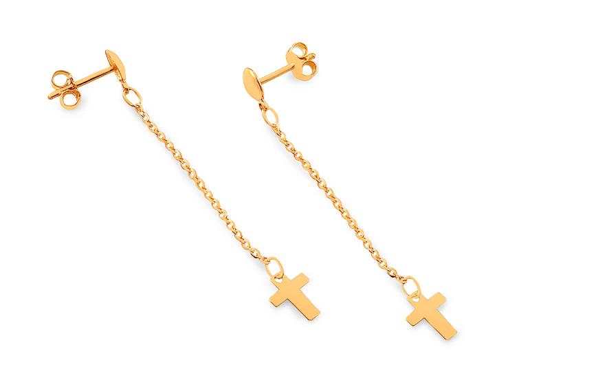 Zlaté náušnice s křížky IZ9513N