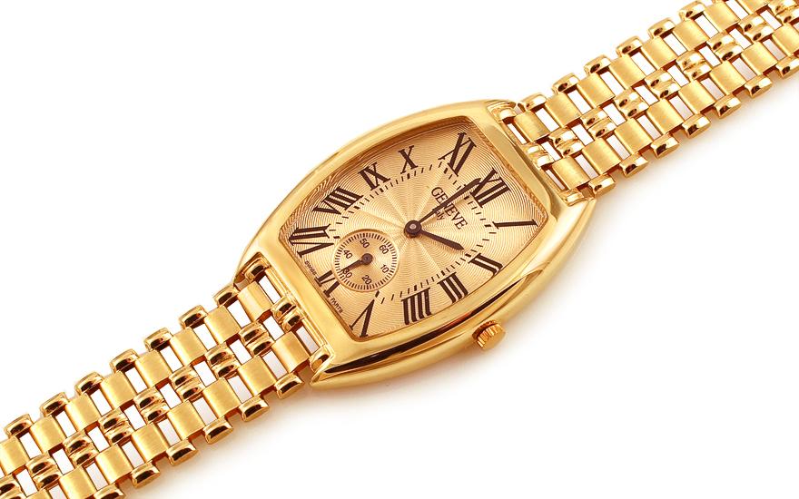 Zlaté pánské hodinky Geneve IZ12279
