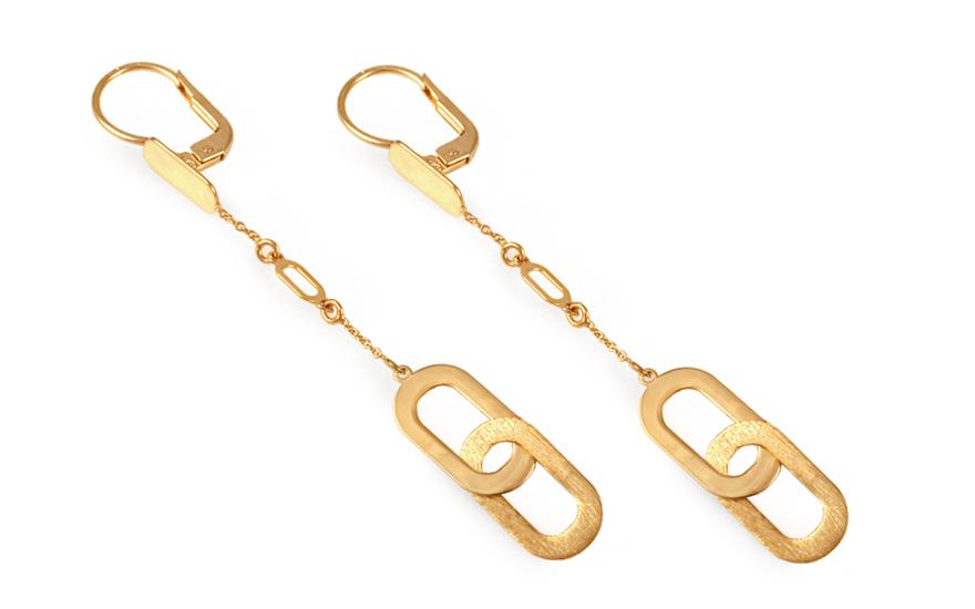 Zlaté visací náušnice IZ9519N