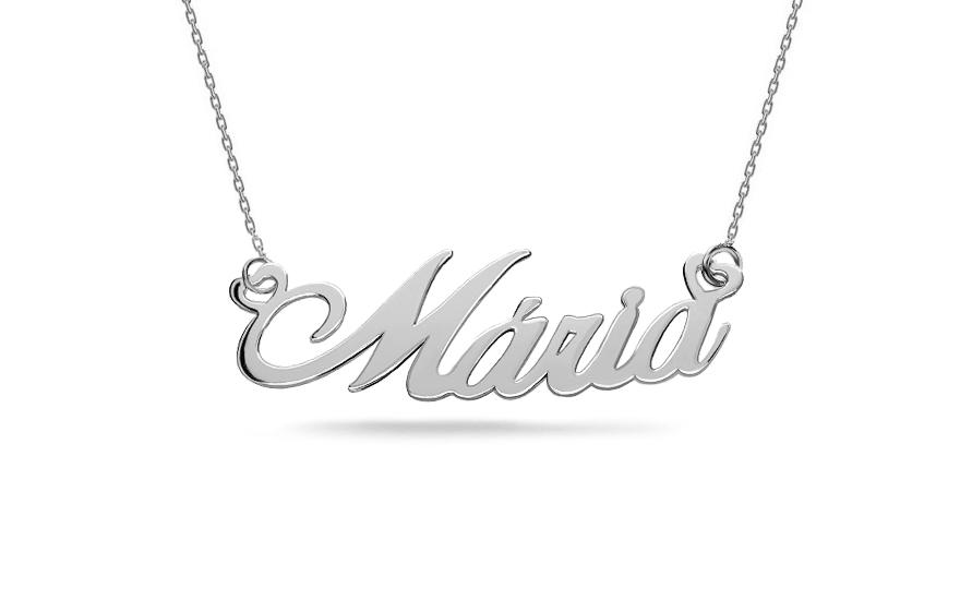 Zlatý bílý řetízek s jménem Maria IZ7884A