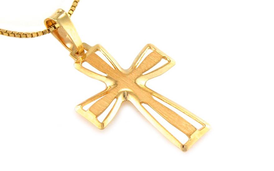Zlatý dámský křížek IZ8466