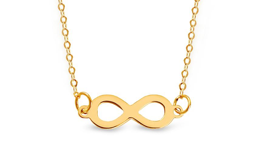 Zlatý náhrdelník Infinity IZ12356