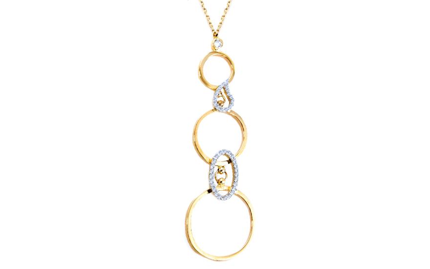 Zlatý dámský náhrdelník Ria IZ6359
