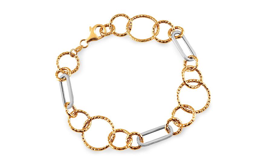 Zlatý dámský náramek rings IZ2305