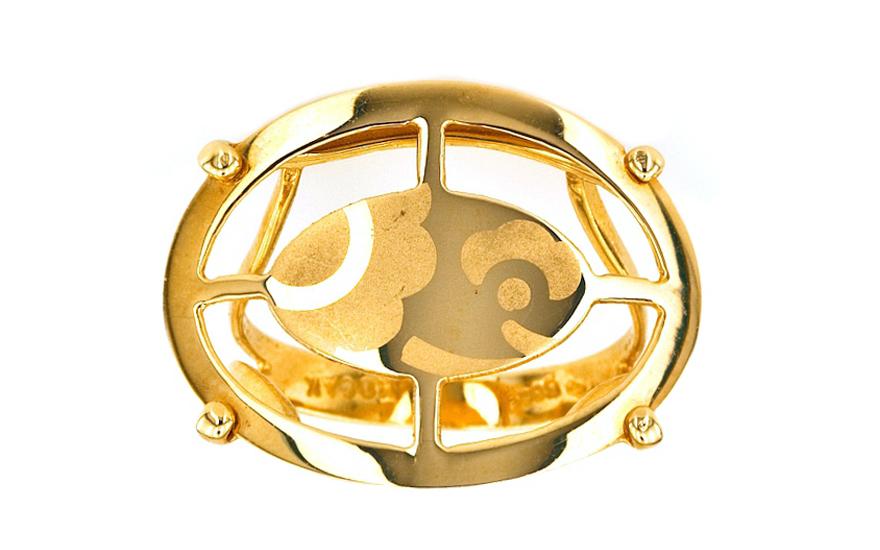 Zlatý dámský prsten ELIPS IZ1626