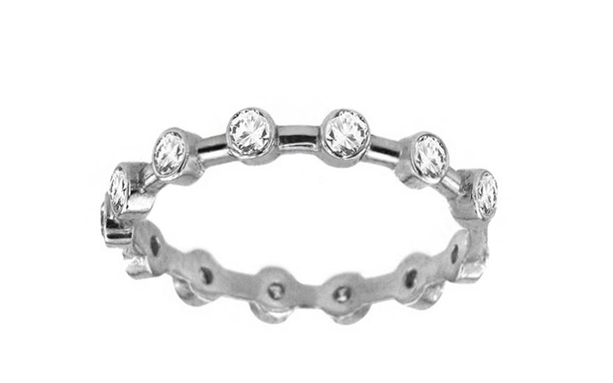 Zlatý dámský prsten k motlibě se zirkony KORI233