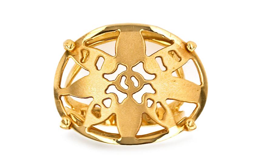 Zlatý dámský prsten Slunce IZ1624