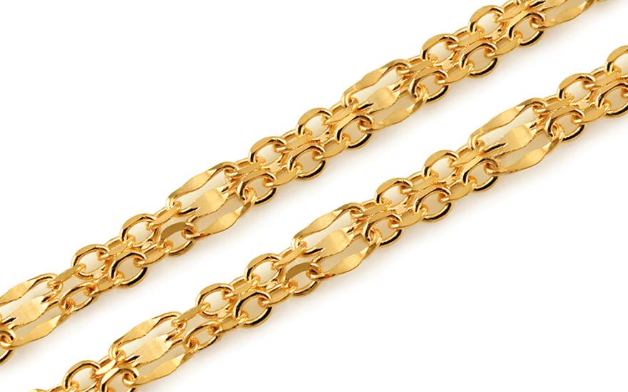 Zlatý dámský řetízek 2 mm IZ10908